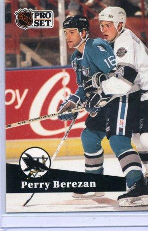 Perry Berezan 1991/92 Pro Set #487 Hockey Card Near Mint Condition