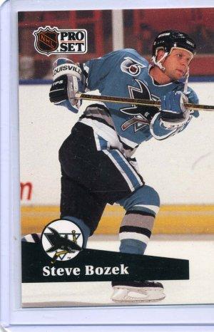 Steve Bozek 91/92 Pro Set #486 NHL Hockey Card Near Mint Condition