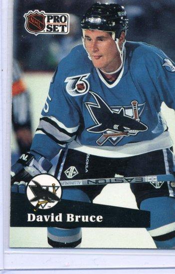 Rookie David Bruce 1991/92 Pro Set #485 Hockey Card Near Mint Condition