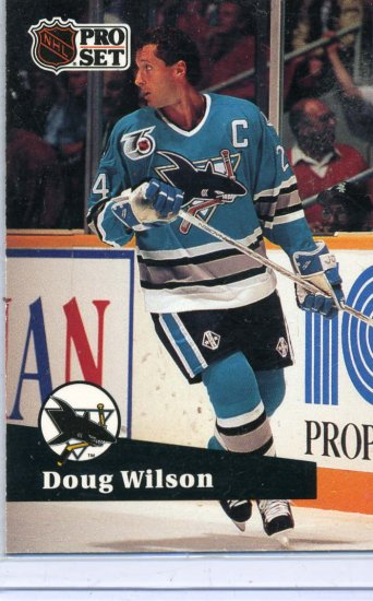 Doug Wilson 91/92 Pro Set #478 NHL Hockey Card Near Mint Condition
