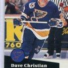 Dave Christian 91/92 Pro Set #471 NHL Hockey Card Near Mint Condition