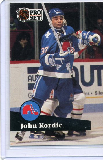 John Kordic 1991/92 Pro Set #468 Hockey Card Near Mint Condition