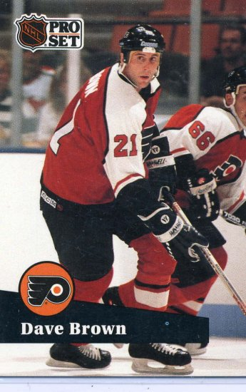 Dave Brown 91/92 Pro Set #452 NHL Hockey Card Near Mint Condition