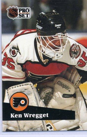 Ken Wregget 91/92 Pro Set #450 NHL Hockey Card Near Mint Condition