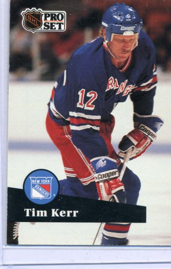 Tim Kerr 91/92 Pro Set #446 NHL Hockey Card Near Mint Condition