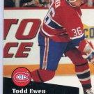 Todd Ewen 91/92 Pro Set #419 NHL Hockey Card Near Mint Condition
