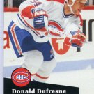 Donald Dufresne 91/92 Pro Set #418 NHL Hockey Card Near Mint Condirion