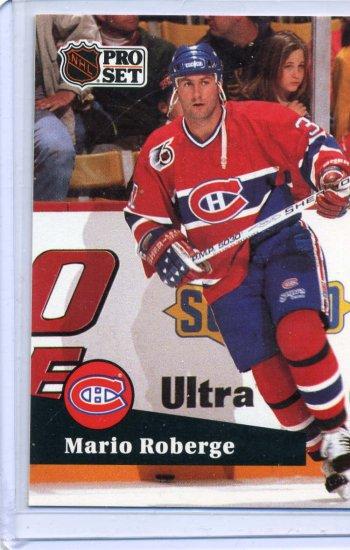 Rookie Mario Roberge 91/92 Pro Set #415 NHL Hockey Card Near Mint Condition