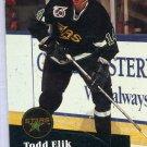 Todd Elik 91/92 Pro Set #410 NHL Hockey Card Near Mint Condition