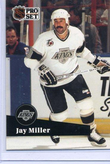 Jay Miller 91/92 Pro Set #402 NHL Hockey Card Near Mint Condition