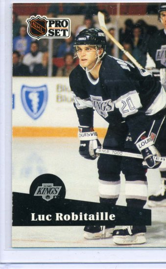 Luc Robitaille 91/92 Pro Set #95 NHL Hockey Card Near Mint Condition