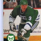 Zarley Zalapski 1991/92 Pro Set #91 NHL Hockey Card Near Mint Condition