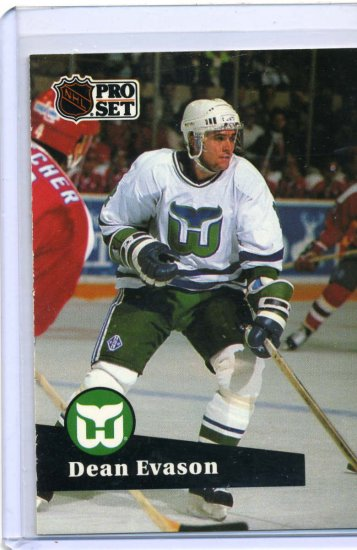 Dean Evason 1991/92 Pro Set #84 NHL Hockey Card Near Mint Condition