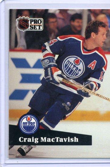 Craig MacTavish 1291/92 Pro Set #77 NHL Hockey Card Near Mint Condition