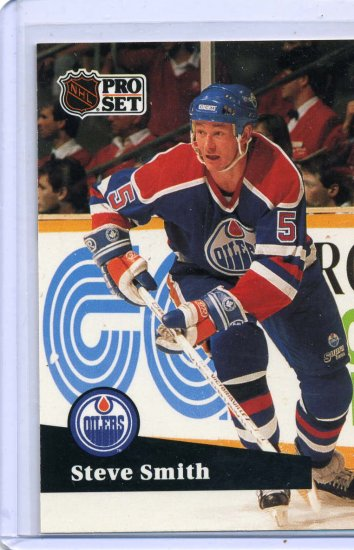 Steve Smith 1991/92 Pro Set #73 NHL Hockey Card Near Mint Condition
