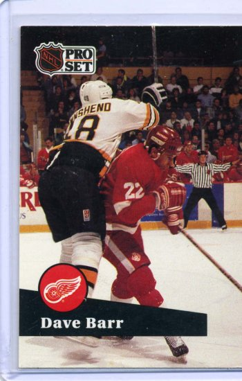 Dave Barr 1991/92 Pro Set #65 NHL Hockey Card Near Mint Condition