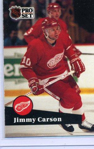 Jimmy Carson 1991/92 Pro Set #55 NHL Hockey Card Near Mint Condition