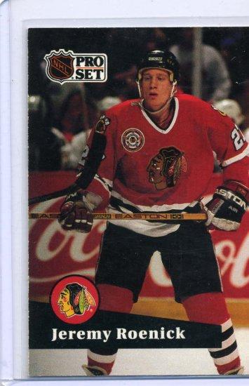 Jeremy Roenick 1991/92 Pro Set #40 NHL Hockey Card Near Mint Condition