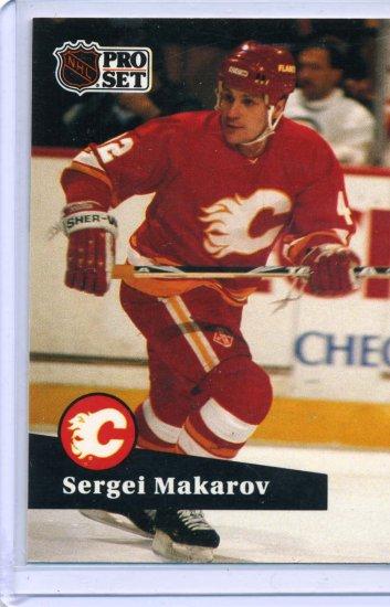 Sergei Makarov 1991/92 Pro Set #39 NHL Hockey Card Near Mint Condition