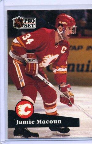 Jamie Macoun 1991/92 Pro Set #38 NHL Hockey Card Near Mint Condition