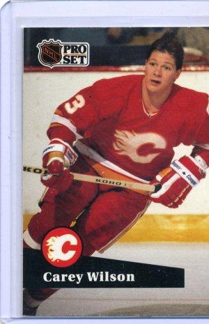 Carey Wilson 1991/92 Pro Set #36 NHL Hockey Card Near Mint Condition