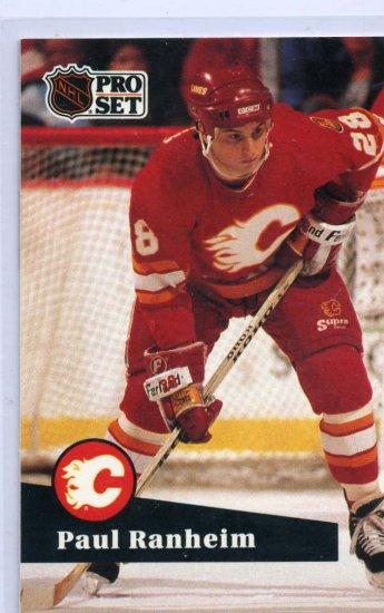 Paul Ranheim 1991/92 Pro Set #31 NHL Hockey Card Near Mint Condition