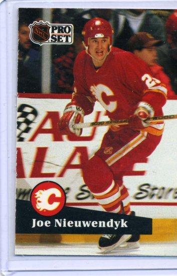 Joe Nieuwendyk 1991/92 Pro Set #29 NHL Hockey Card Near Mint Condition