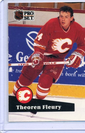 Theoren Fluery 1991/92 Pro Set #28 NHL Hockey Card Near Mint Condition