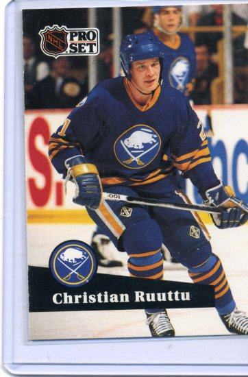 Christian Ruuttu 1991/92 Pro Set #22 NHL Hockey Card Near Mint Condition