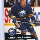 Christian Ruuttu 1991/92 Pro Set #22 NHL Hockey Card Near Mint Condition