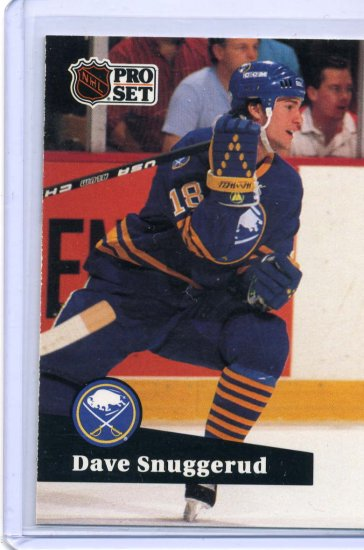 Dave Snuggerud 1991/92 Pro Set #18 NHL Hockey Card Near Mint Condition