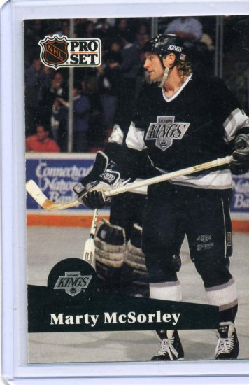 Marty McSorley 1991/92 Pro Set #100 NHL Hockey Card Near Mint Condition