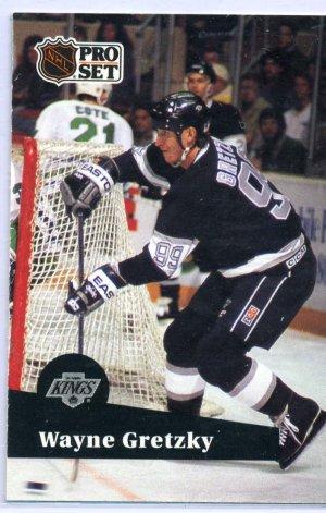 Wayne Gretzky 1991/92 Pro Set #101 NHL Hockey Card Near Mint Condition