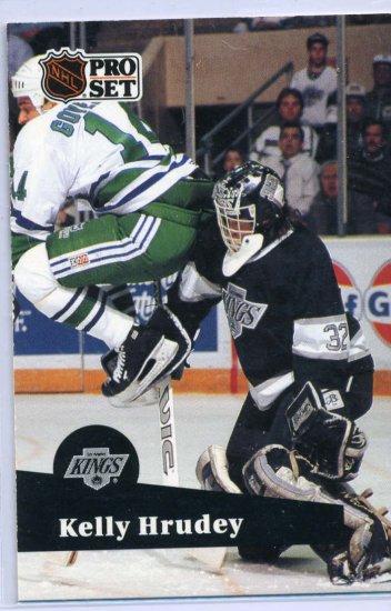 Kelly Hrudey 1991/92 Pro Set #102 NHL Hockey Card Near Mint Condition