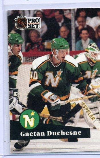 Gaetan Duchesne 1991/92 Pro Set #110 NHL Hockey Card Near Mint Condition