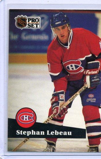 Stephan Lebeau 1991/92 Pro Set #120 NHL Hockey Card Near Mint Condition