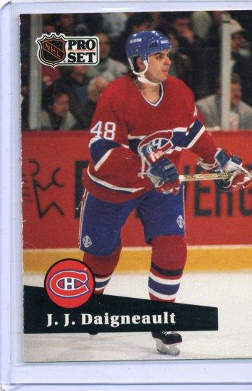J J Daigneault 1991/92 Pro Set #124 NHL Hockey Card Near Mint Condition