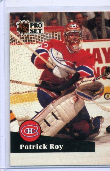 Patrick Roy 1991/92 Pro Set #125 NHL Hockey Card Near Mint Condition
