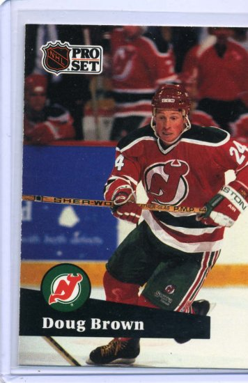 Doug Brown 1991/92 Pro Set #138 NHL Hockey Card Near Mint Condition