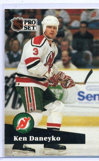 Ken Daneyko 1991/92 Pro Set #139 NHL Hockey Card Near Mint Condition
