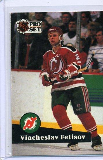 Viacheslav Fetisov 1991/92 Pro Set #142 NHL Hockey Card Near Mint Condition