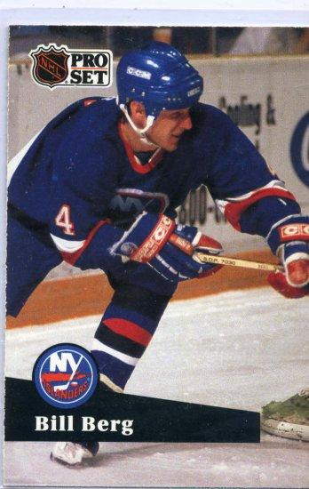 Rookie Bill Berg 1991/92 Pro Set #145 NHL Hockey Card Near Mint Condition