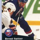 Brent Sutter 1991/92 Pro Set #154 NHL Hockey Card Near Mint Condition