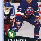 Craig Ludwig 1991/92 Pro Set #155 NHL Hockey Card Near Mint Condition