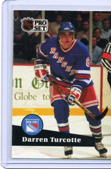 Darren Turcotte 1991/92 Pro Set #160 NHL Hockey Card Near Mint Condition