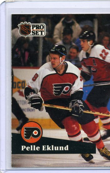Pelle Eklund 1991/92 Pro Set #179 NHL Hockey Card Near Mint Condition