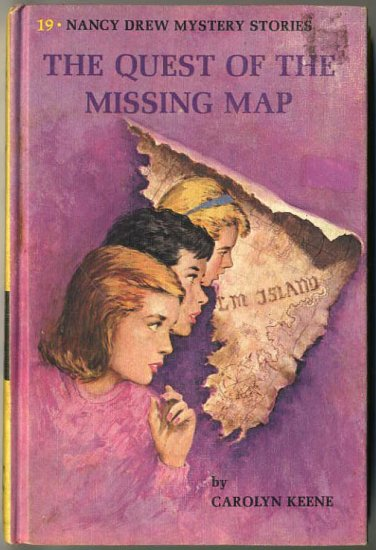 Nancy Drew #19 The Quest Of The Missing Map by Carolyn Keene Hard Cover