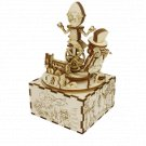 Mangiafuoco's Theatre PINOCCHIO 3D Mechanical Wooden Model and Chiming Box