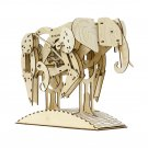 AFRICAN ELEPHANT - MrPLAYWOOD - 3D Mechanical Wooden Model & Puzzle