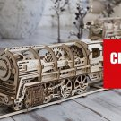 460 Locomotive - UGEARS 3D Mechanical wooden model